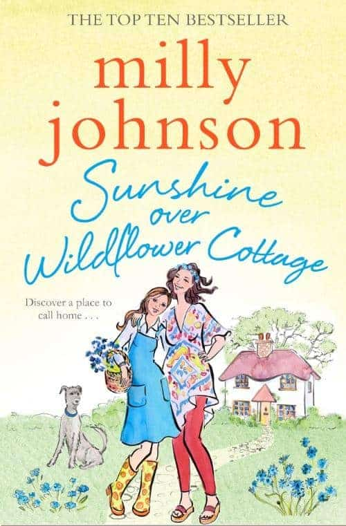 Book cover Sunshine over Wildflower Cottage by Milly Johnson