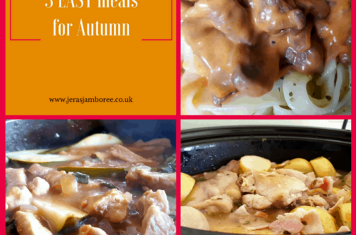 Autumn 3 easy meals