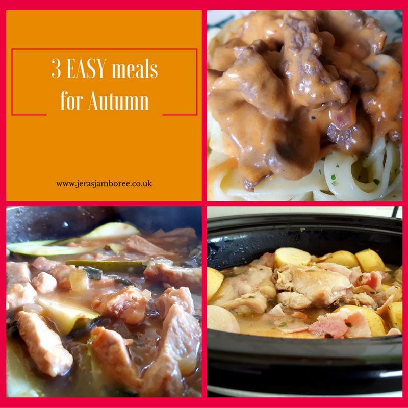 Autumn 3 easy meals