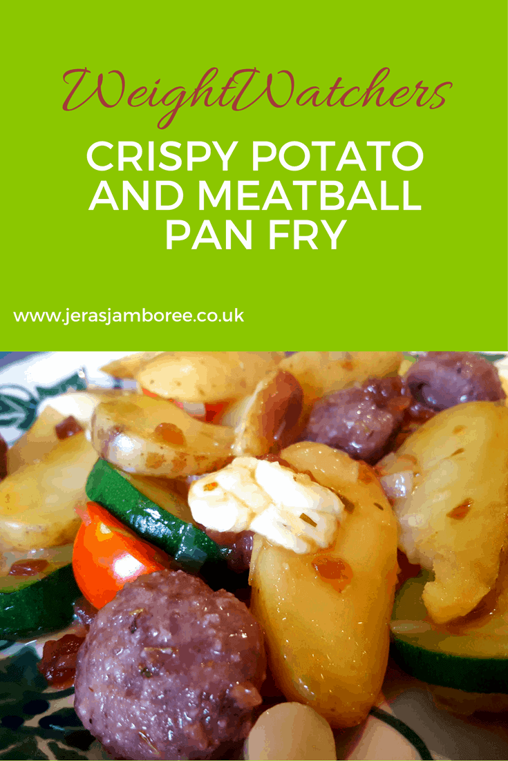 crispy potato and meatball pan fry