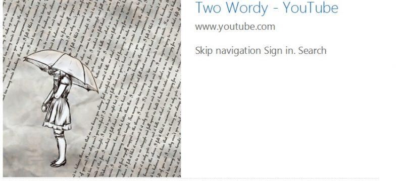Two Wordy on YouTube