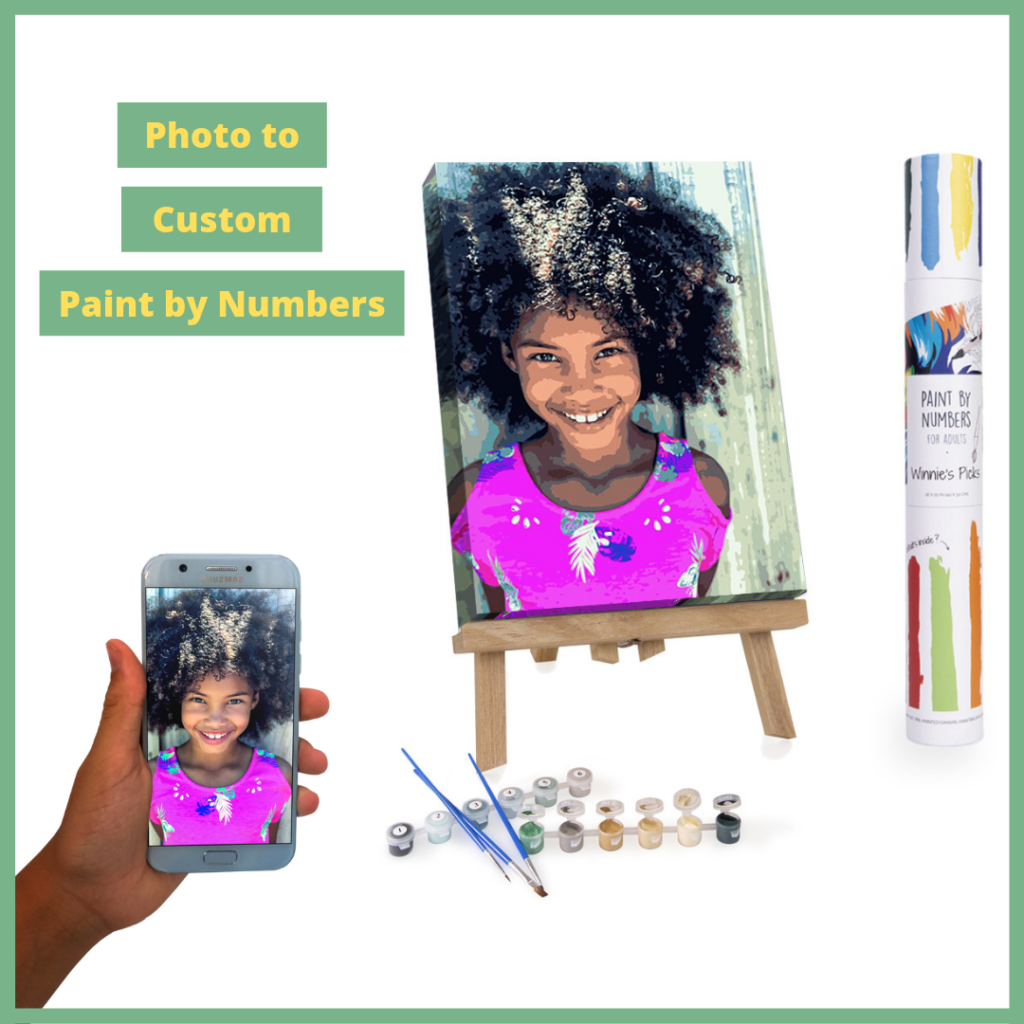Photo to custom painting by numbers for adults from Winnie's Picks.