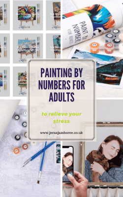 Painting by numbers for adults available from Winnie's Picks