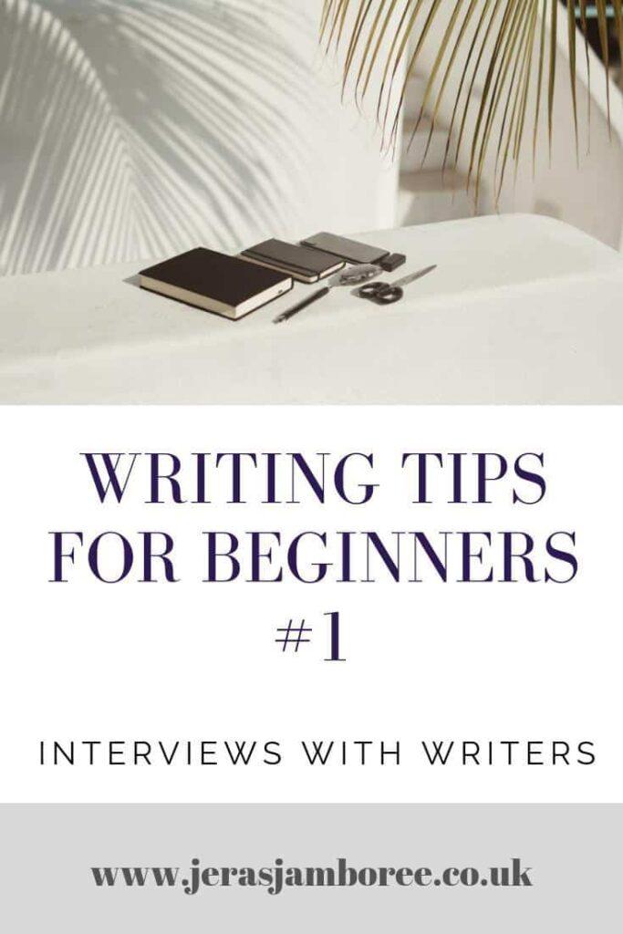 Writing Tips for Beginners Pinterest image
