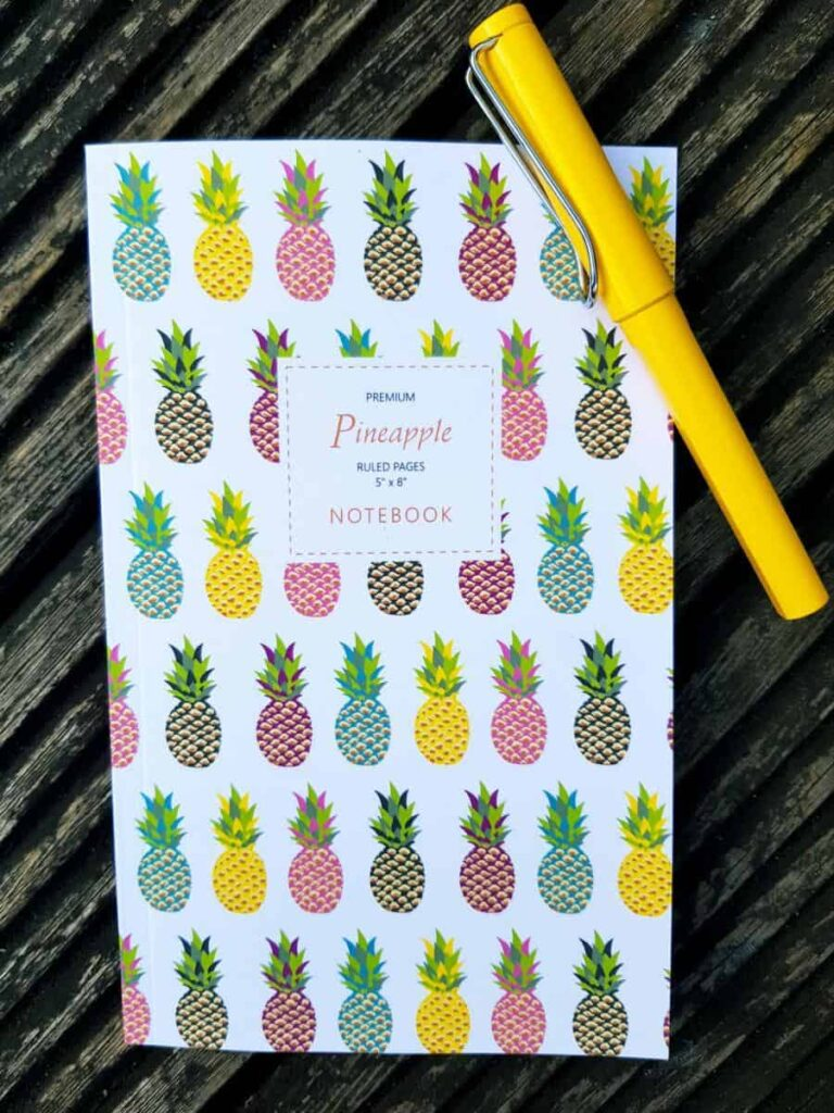 Pineapple notebook with pen  stationery collection
