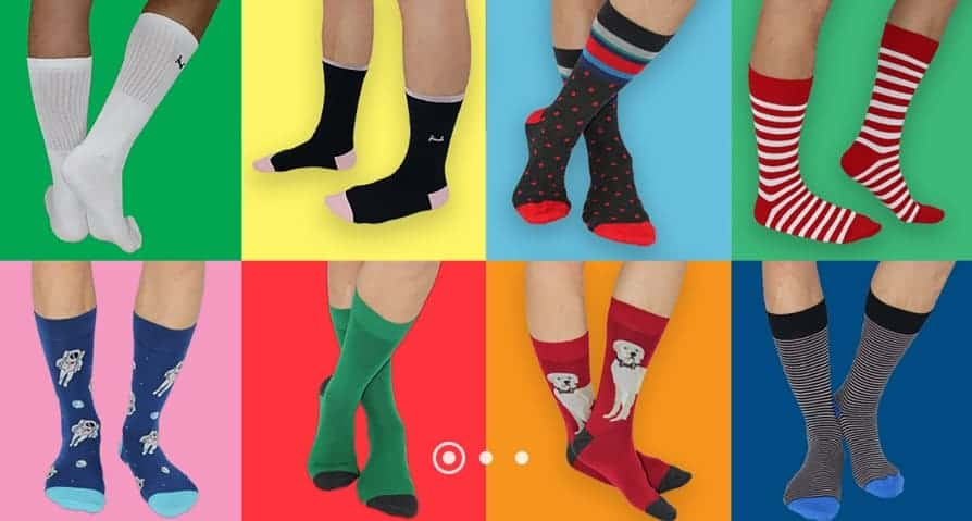 The Sock Butler showing different design socks