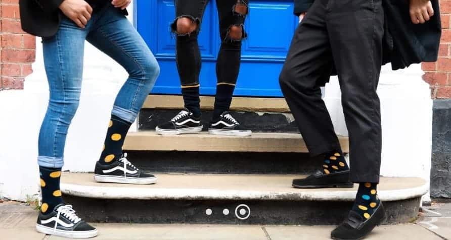 The Sock Butler spots and stripes socks