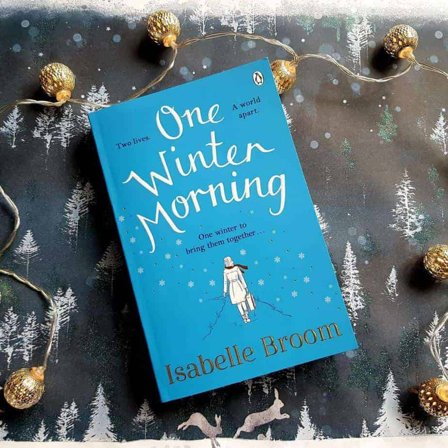 Book cover One Winter Morning with a winter background and lights