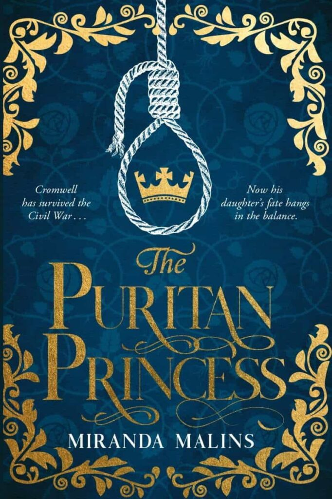 Book cover for The Puritan Princess by Miranda Malins