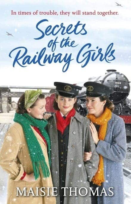 Book cover for Secrets of the Railway Girls by Maisie Thomas