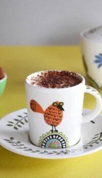 Handmade espresso cup and saucer
