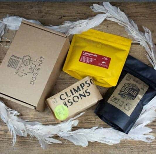 coffee sachets from Hat and Dog coffee subscription