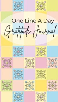 Front page One Line A Day Gratitude Journal
