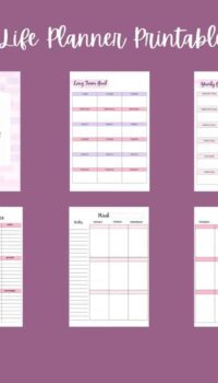 Pages in the Life Planner Printable