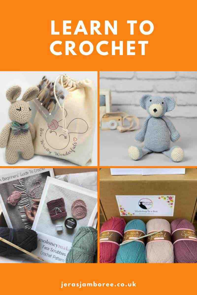 four kits suitable for crochet beginners